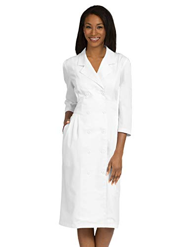 Med Couture Professional Women's Empire Embroidered Waist Dress White 24W