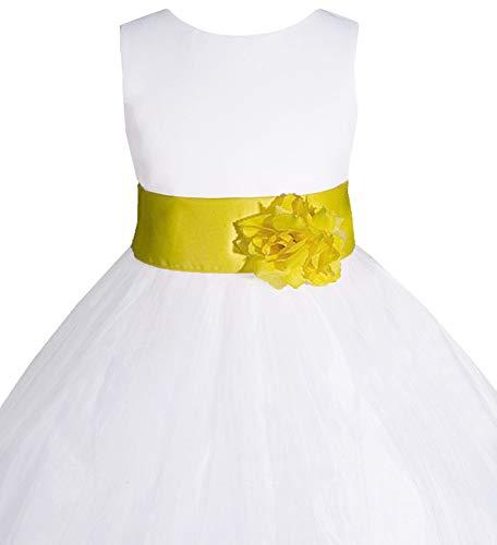 25f3c8b4322 AMJ Dresses Inc Little-Girls' White/Yellow Flower Girl Dress S1008 ...