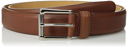 (Cole Haan Men's 32mm Burnished Edge Milled Egyptian Cow Belt, Tan, 40)