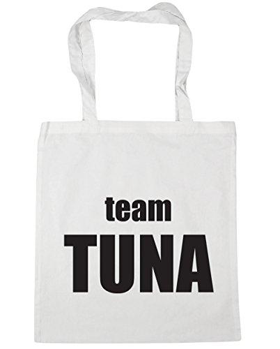 HippoWarehouse office Tote 42cm litres Bag White Team Tuna x38cm 10 Gym Shopping Beach rR4wrEqxt