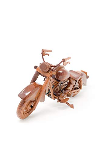 Indian Motorcycle Replica Model Hand Crafted with Real Mahogany Wood