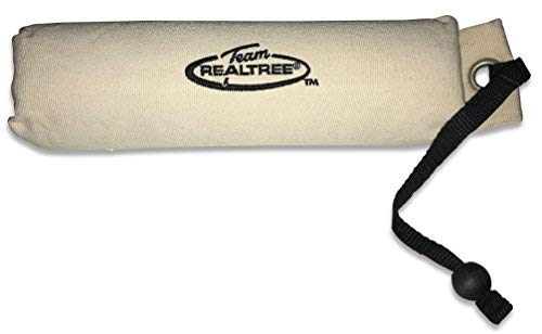 Team REALTREE Natural Canvas Retriever Training Dummy Hunting Dog Toy with Throw Rope ~ Large Size 11-inch x 3-inch ~ Floatable