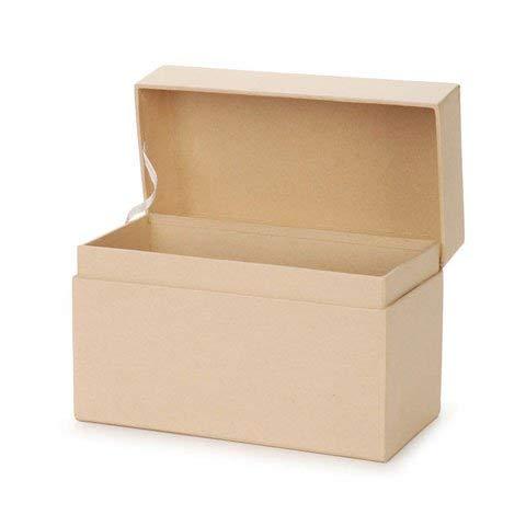 Darice Bulk Buy DIY Paper Mache Recipe Box 6-3/4 x 3-3/4 x 4-1/2 inch (6-Pack) 2874-40 (Best Paper Mache Recipe)