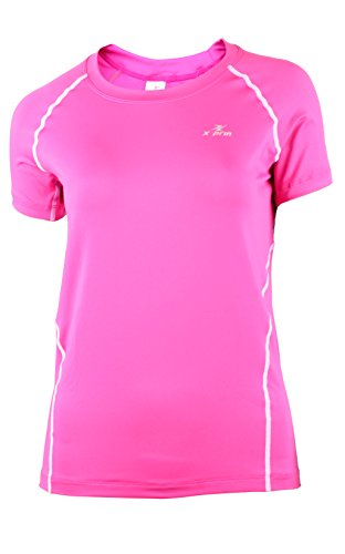 XPRIN A200 Series Women's Short Sleeve Base Layer Compression Shirt Sports Wear (XL, (A200 Series)