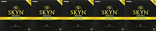 [Lifestyles Skyn Polyisoprene ABQil Condoms - 24 Count (5 Pack)] (5 Condoms)