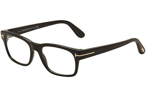 Tom Ford Men's Eyeglasses TF5432 TF/5432 001 Shiny Black/Gold Optical Frame - Optical Tom Ford Mens