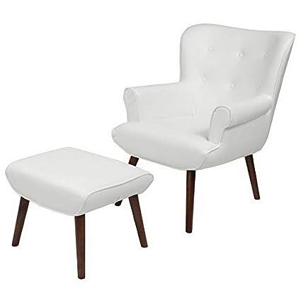 Amazon.com: Hebel Bayton Upholstered Leather Wingback Accent ...