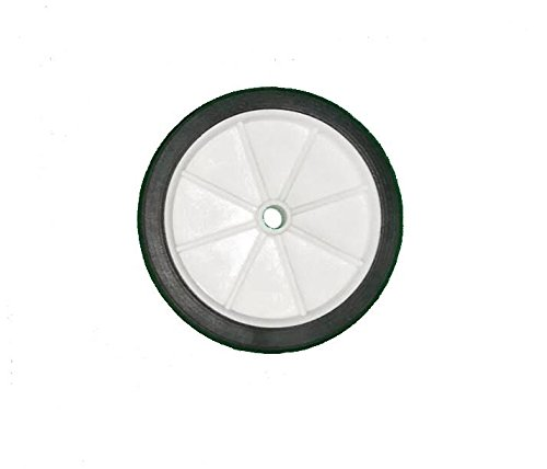SMALL 4 WHITE WHEEL WITH 6MM BORE STABILISER SHOPPING TROLLEY TRUCK CART