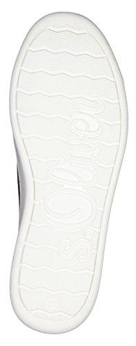 Oliver 5 Sneaker Fußbett Foam in 5 s Soft Optik Modischer Weiches Freizeitschuh Damen Red 20 23698 Silver Metallic Schnürhalbschuh dqf8Hx8Aw
