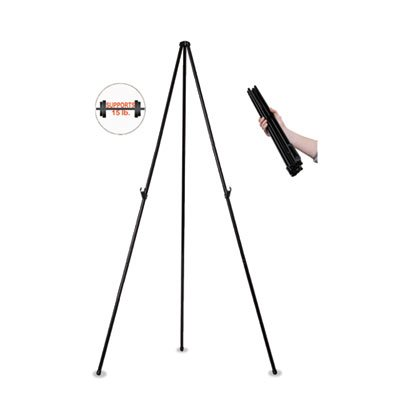 Instant Easel, 61 1/2'''', Black, Steel, Heavy-Duty, Sold as 1 Each by MasterVision