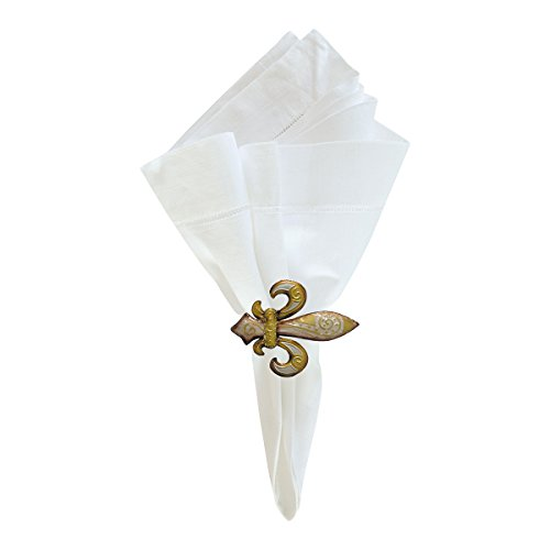 - Set of 4 PCS, Fleur De Lis Napkin Ring