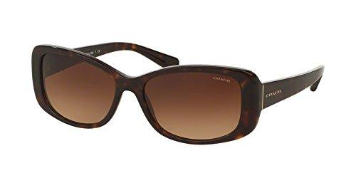 Coach Women's HC8168 Sunglasses Dark Tortoise/Brown Gradient 56mm (Women Coach Frames Eyeglasses)