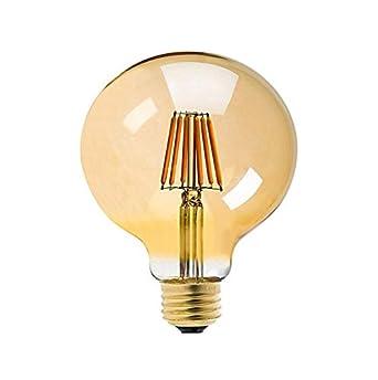 W Led Vintage Couleur Edison Ledsone Ambreg125 Filament E27 ° De Ampoule Chaud V 220 Retro Base Faisceau G125 Dimmable 360 Angle Blanc 8 dtshQBCxr