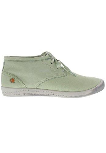 Softinos Indira washed leather - zapatos con cordones de cuero mujer Pastel Green