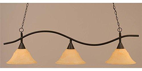 Toltec Lighting 893-DG-53314 Swoop 3 Light Bar with 14