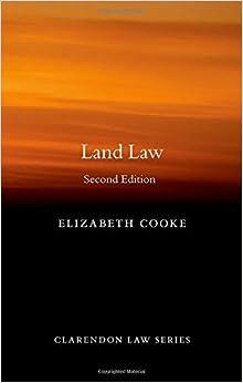 Book Land Law (Clarendon Law) (Clarendon Law Series) by Elizabeth Cooke (2012-09-07)