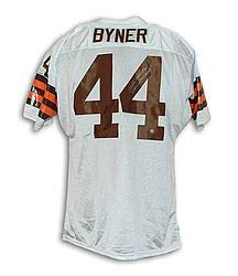 Earnest Byner Cleveland Browns Autographed White Throwback Jersey Inscribed 3X AFC Central Champs - Certified Authentic Signature - Cleveland Browns Throwback White Jersey