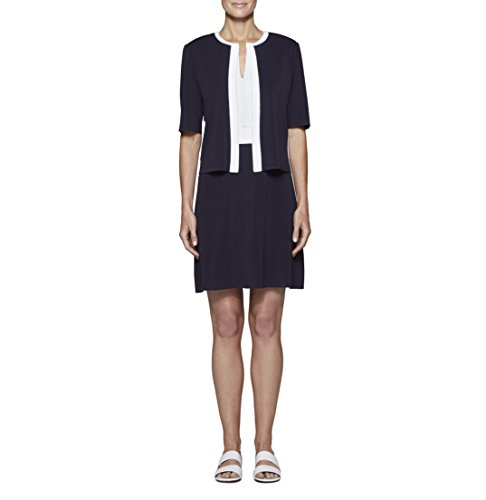 MISOOK Women's Cropped Jacket With Contrast Trim K3150AC (M) by MISOOK (Image #1)