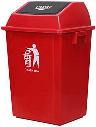 LXJYMX Mülltonne im Freien Schaukeln Sie Hausgarten-Küchenmüll, der Plastikabfall aufbereitet Mülleimer im Freien (Color : Red, Size : 100L)