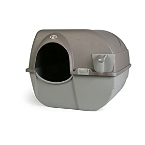 Omega Paw Roll 'n Clean New Litter Box, Brown, Large 59