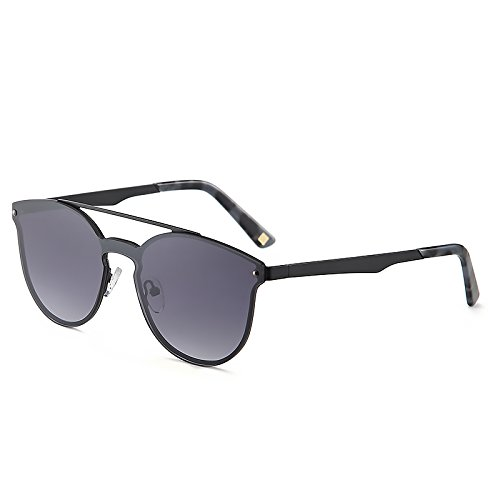 f7334798a6 2020Ventiventi Vintage Sunglasses for Women Men Cat Eye Double Bridge Metal  Frame with Sun Glasses Case UV400 for Steampunk 17001C02 (Matte Black