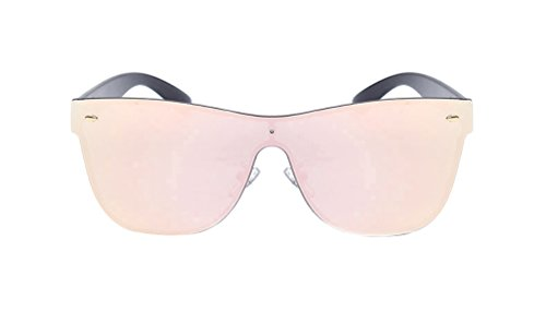 1706c21ece GAMT Rimless Wayfarer Sunglasses Futuristic Shield Mirrored - Import ...