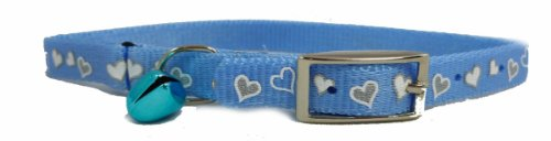 OmniPet Reflective Cat Breakaway Collars with Heart Bell, 10 to 12