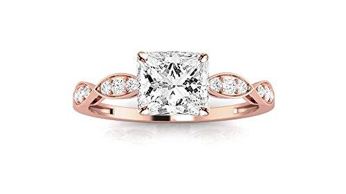 0.3 Ct Princess Diamond - 8