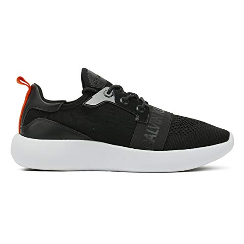 Homme Ckj Black Basses Logo Calvin Klein Knit Sneakers Jeans Mel qag8w7S4