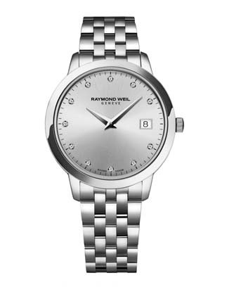 Raymond Weil Women's 'Toccata' Quartz Stainless Steel Dress Watch, Color:Silver-Toned (Model: 5388-ST-65081)