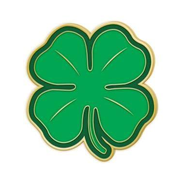(Green Four Leaf Clover Pin - 4 Leaf Clover Lapel Pin Prime)