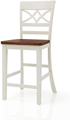 Furniture of America Cherrine Country Style Pub Dining Chair