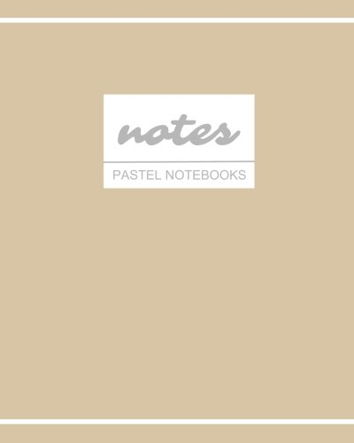 Notes Pastel Notebooks: Creamy Mocha, Cute /  Journal / Diary / Ruled Notebook, Holiday Stationery / (Trendy Designs) (8