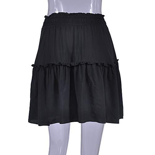 Lastique Court LULIKA sous Noir Stretch Jupe Fille Jupe La Jupe Genou Taille Bande Femmes LaChe Mini Bodycon Femme Haute Elastique Bgqtx0rwZq