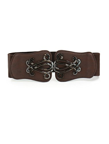 uxcell Leather Floral Interlock Elastic