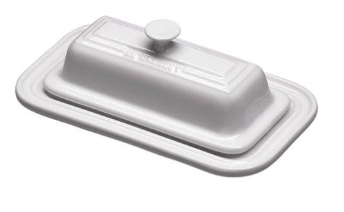 Le Creuset Stoneware Butter Dish, White