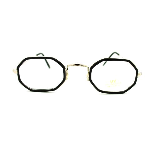 Retro Vintage Classic Octagon Oval Clear Lens Eye Glasses - Octagon Eyeglasses