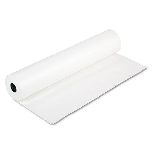 Rainbow Duo-Finish Colored Kraft Paper, 35 lbs., 36'''' x 1000 ft, White, Sold as 1 Roll