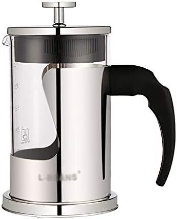 コーヒープレス フレンチプレッシャーコーヒーメーカーステンレススチールコーヒーポットハンドプレッシャーティーメーカー126 * 160mm(350ml)、147 * 177mm(600ml) (サイズ さいず : 126*160mm(350ml))