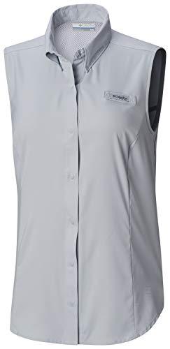 Columbia Women's PFG Tamiami Sleeveless Shirt,  Cirrus Grey, -