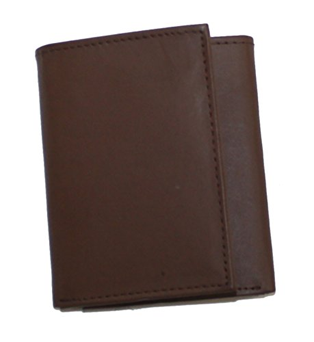 Ted and Jack - Classic Quality Leather Trifold Wallet in Rugged Brown