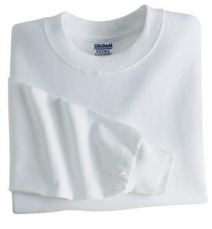 White 5xl T-shirt - Gildan G240 6.1 oz. Ultra Cotton Long-Sleeve T-Shirt 5XL White