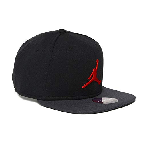 NIKE Mens Jordan Jumpman Snapback Hat 861452-016 (Black/Dark Shadow/Red) ()
