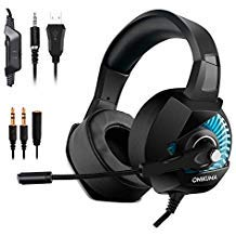 Gaming Headset for Nintendo Switch, PS4, Xbox One,PC, Laptop, Computer, Mac, 3.5mm Jack RGB Light Surround Stereo Sound Noise Isolating Over Ear Soft Earmuf Easy Volume Control (Best Led Tv Within 20000)