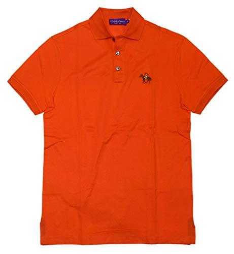 Ralph Lauren Polo Purple Label Mens Logo Short Sleeve Shirt Italy Orange Small