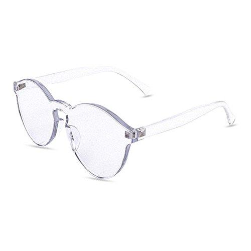 para Transparente Gafas bordes sin Pawaca sol mujer una de caramelo talla pieza tintado color grande FtwF6xZSn