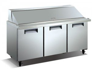 Refrigerated Mega Top Salad/Sandwich Prep Table – 3 Door, 66″