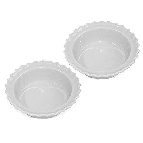 Chantal Classic Glossy White Ceramic 5 Inch Individual Pie Dish, Set of 2 Chantal Classic Pie Dish
