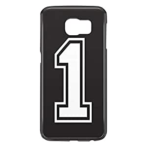 Loud Universe Samsung Galaxy S6 3D Wrap Around Number 1 Print Cover - Black