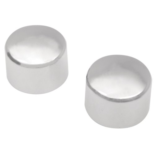 Hill Country Customs Chrome Rear Axle Nut Cover Caps for 2000-2007 Harley-Davidson Softail models - ()